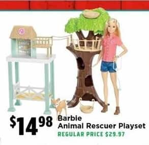 H-E-B Black Friday: Barbie Animal Rescuer Playset for $14.98