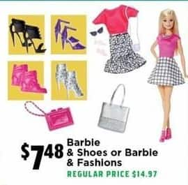 H-E-B Black Friday: Barbie & Shoes or Barbie & Fashions for $7.48