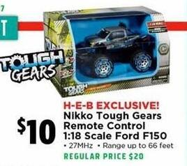 H-E-B Black Friday: Nikko Tough Gears Remote Control 1:18 Scale Ford F150 for $10.00