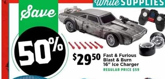"""H-E-B Black Friday: Fast & Furious Blast & Burn 16"""" Ice Charger for $29.50"""