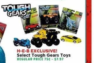 H-E-B Black Friday: Select Tough Gears Toys - 50% Off