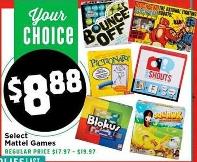 H-E-B Black Friday: Bounce Off, Pictionary, Blokus, Rock'em, Sock'em Robots & More Select Mattel Games for $8.88