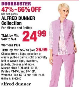 Boscov's Black Friday: Alfred Dunner Collection for Her for $24.99 - $26.99