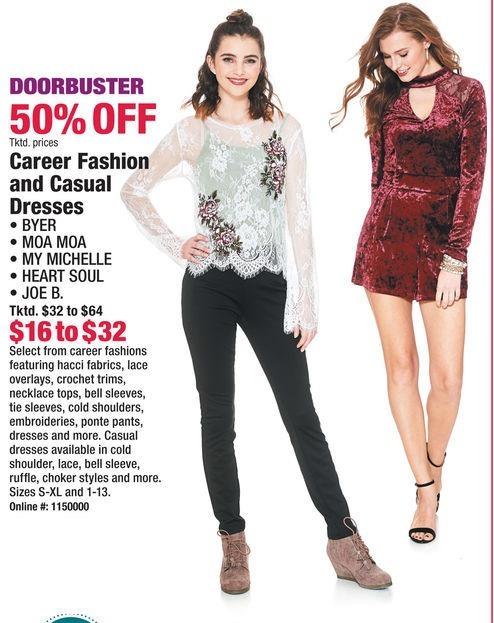 Boscov's Black Friday: Career Fashion & Casual Dresses - 50% Off