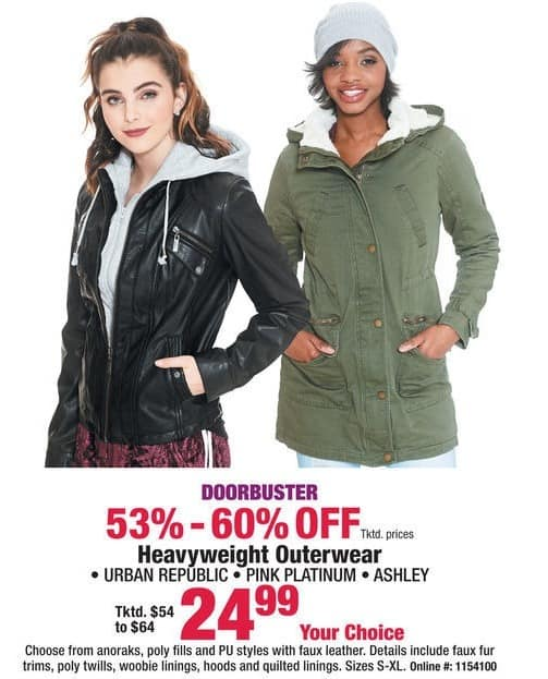 Boscov's Black Friday: Heavyweight Outerwear for Her for $24.99