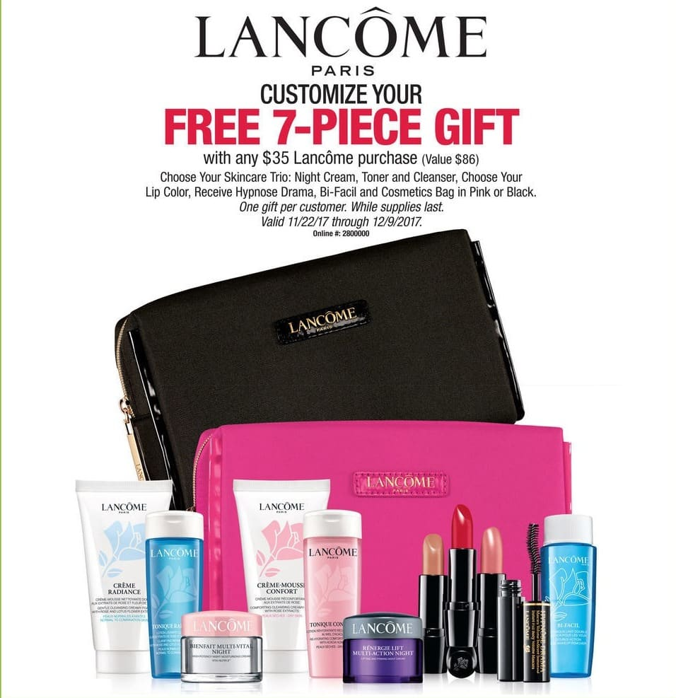 Boscov's Black Friday: Purchase $35 or More of Lancome Paris and Get a 7-piece Gift for Free