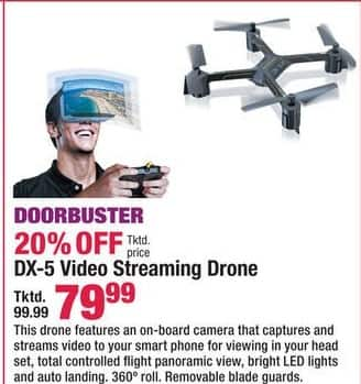 Boscov's Black Friday: DX-5 Video Streaming Drone for $79.99