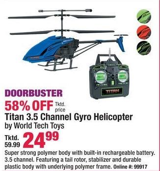Boscov's Black Friday: Titan 3.5 Channel Gyro Helicoptor for $24.99