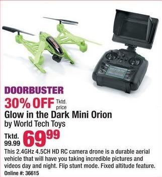 Boscov's Black Friday: Glow in the Dark Mini Orion Drone for $69.99