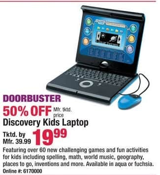 Boscov's Black Friday: Discovery Kids Laptop for $19.99