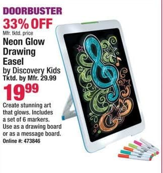 Boscov's Black Friday: Discovery Kids Neon Glow Drawing Easel for $19.99