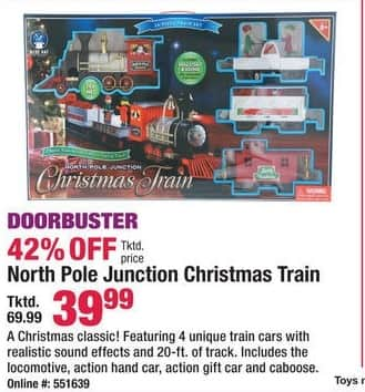Boscov's Black Friday: North Pole Junction Christmas Train for $39.99