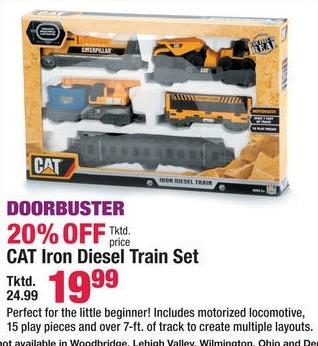 Boscov's Black Friday: CAT Iron Diesel Train Set for $19.99