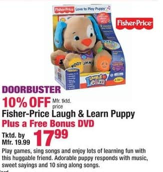 Boscov's Black Friday: Fisher-Price Laugh & Learn Puppy w/ DVD for $17.99