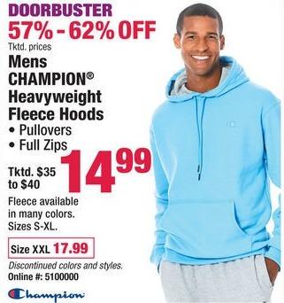 Boscov's Black Friday: Champion Heavyweight Fleece Hoods for $14.99 - $17.99