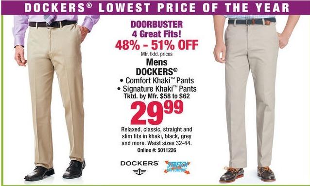 Boscov's Black Friday: Dockers Comfort Khaki & Signature Khaki Pants for $29.99