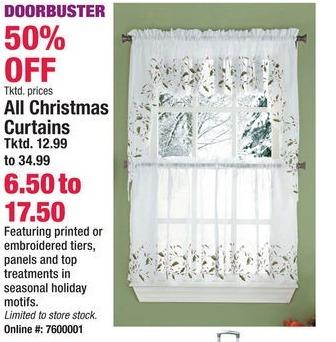 Boscov's Black Friday: Christmas Curtains - 50% Off