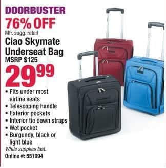 Boscov's Black Friday: Caio Skymate Underseat Bag for $29.99