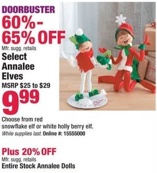 Boscov's Black Friday: Entire Stock of Annalee Dolls - 20% Off