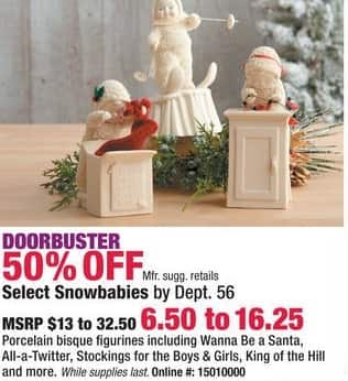 Boscov's Black Friday: Select Snowbabies by Dept 56 - 50% Off