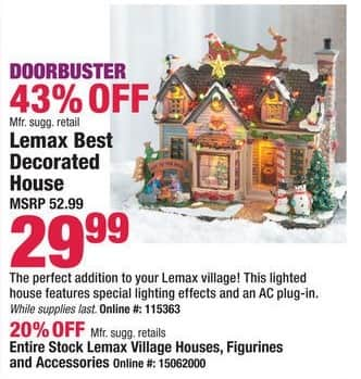 Boscov's Black Friday: Entire Stock of Lemax Village Houses, Figurines & Accessories - 20% Off