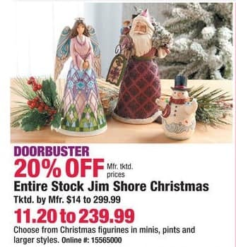 Boscov's Black Friday: Entire Stock of Jim Shore Christmas - 20% Off