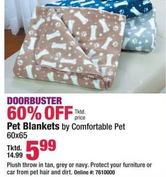 Boscov's Black Friday: Pet Blankets 60x65 for $5.99