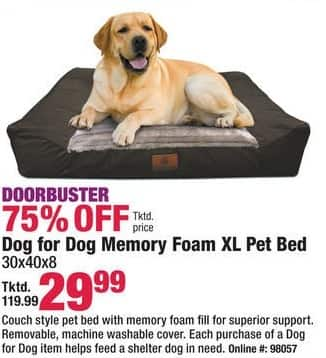 Boscov's Black Friday: Memory Foam XL Dog Bed for $29.99