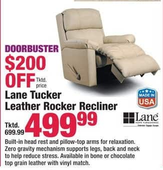Boscov's Black Friday: Lane Tucker Leather Rocker Recliner for $499.99