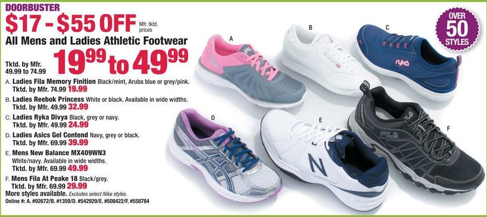 Boscov's Black Friday: All Men's & Ladies Athletic Footwear for $19.99 - $49.99