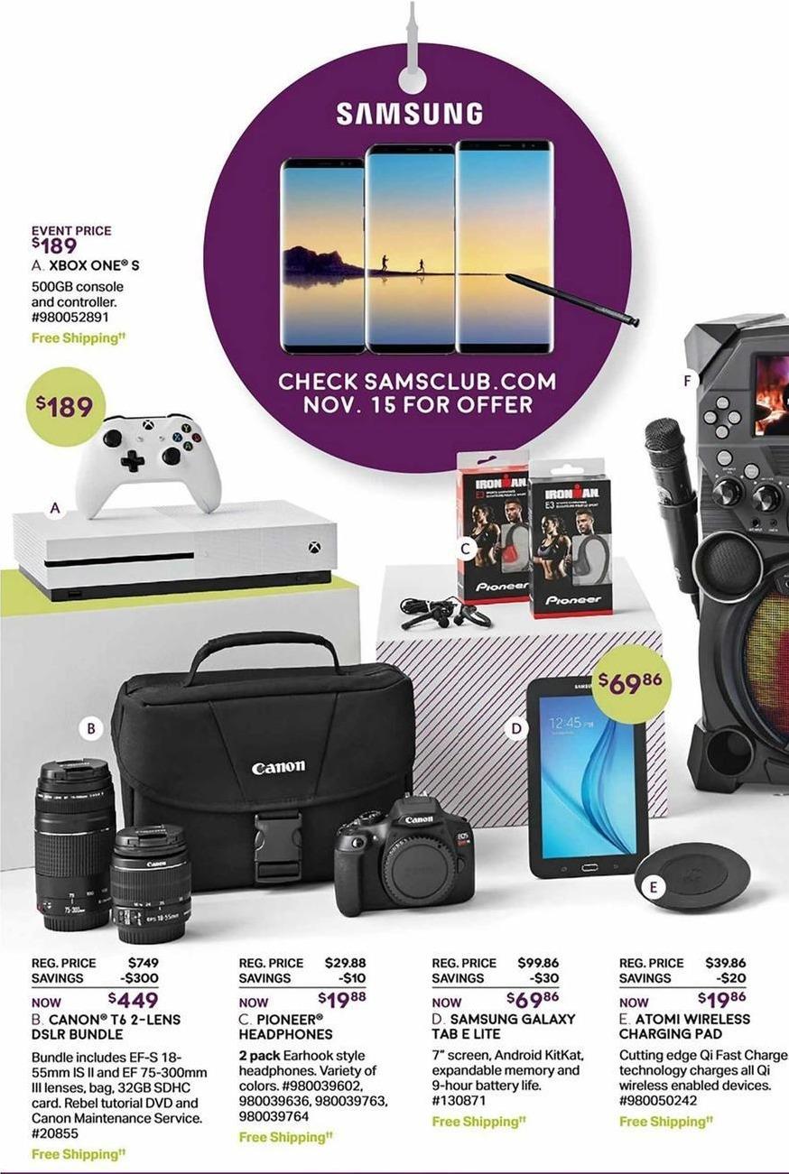 Sam's Club Black Friday: Canon T6 2-Lens DSLR Bundle w/ 32GB SDHC Card for $449.00