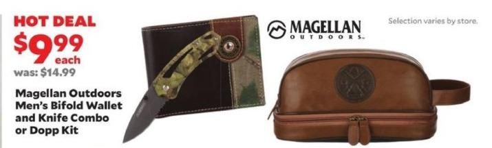 Academy Sports + Outdoors Black Friday: Magellan Outdoors Bifold Wallet & Knife Combo or Dopp Kitt for $9.99
