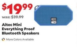 Academy Sports + Outdoors Black Friday: Altec Mini Everything Proof Bluetooth Speakers for $19.99