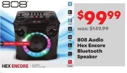 Academy Sports + Outdoors Black Friday: 808 Audio Hex Encore Bluetooth Speaker for $99.99