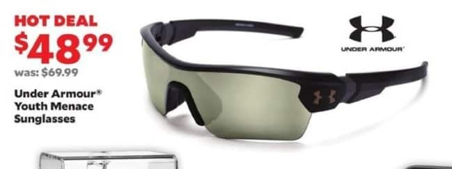 Academy Sports + Outdoors Black Friday: Under Armour Youth Menace Sunglasses for $48.99