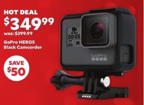 Academy Sports + Outdoors Black Friday: GoPro Hero5 Black Camcorder for $349.99