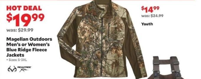 Academy Sports + Outdoors Black Friday: Magellan Outdoors Blue Ridge Fleece Jackets for Men & Women for $19.99