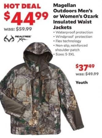 32ce588e4ff80 Academy Sports + Outdoors Black Friday: Magellan Outdoors Ozark Insulated  Waist Jackets for Men & Women for $44.99