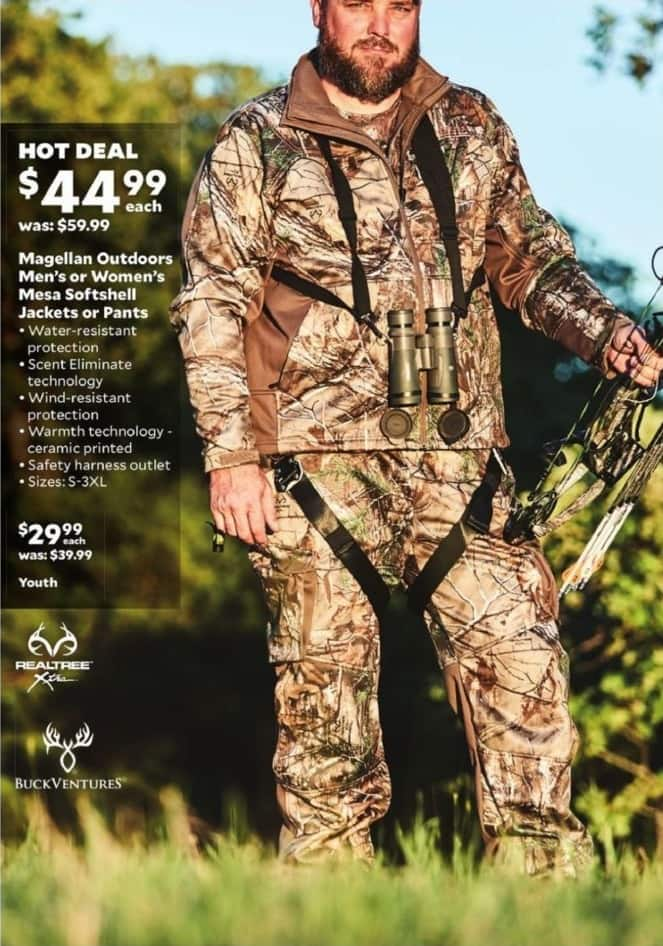 Academy Sports + Outdoors Black Friday: Magellan Outdoors Mesh Softshell Pants or Jackets for Men & Women for $44.99