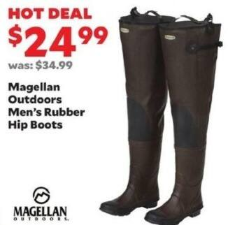 Academy Sports + Outdoors Black Friday: Magellan Outdoors Rubber Hip Boots for Men for $24.99