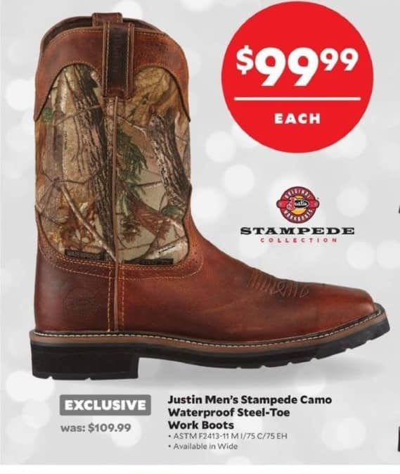 388903da86e Academy Sports + Outdoors Black Friday: Justin Stampede Camo ...