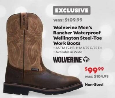 4ca8844cf4f Academy Sports + Outdoors Black Friday: Wolverine Rancher Waterproof ...