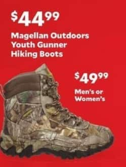 Academy Sports + Outdoors Black Friday: Magellan Outdoors Wellington Hunting Boots for Youth for $44.99