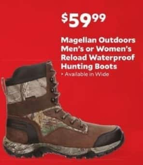 Academy Sports + Outdoors Black Friday: Magellan Outdoors Reload Waterproof Hunting Boots for Men & Women for $59.99