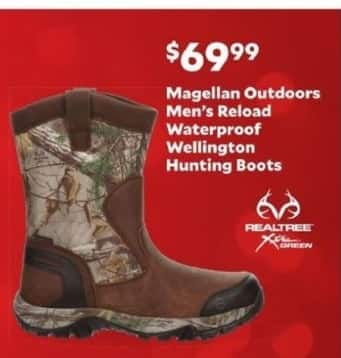 Academy Sports + Outdoors Black Friday: Magellan Outdoors Reload Waterproof Wellington Hunting Boots for Men for $69.99