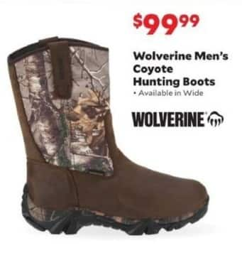 Academy Sports + Outdoors Black Friday: Wolverine Coyote Hunting Boots for Men for $99.99