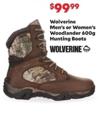 Academy Sports + Outdoors Black Friday: Wolverine Woodlander 600g Hunting Boots for Men & Women for $99.99