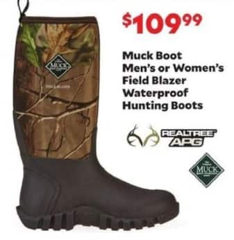 Academy Sports + Outdoors Black Friday: Muck Boot Field Blazer Waterproof Hunting Boots for Men & Women for $109.99