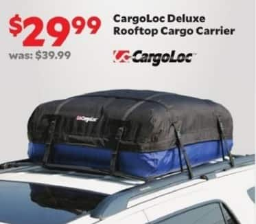 Academy Sports + Outdoors Black Friday: CargoLoc Deluxe Rooftop Cargo Carrier for $29.99