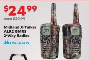 Academy Sports + Outdoors Black Friday: Midland X-Talker ALR2 GMRS 2-Way Radios for $24.99